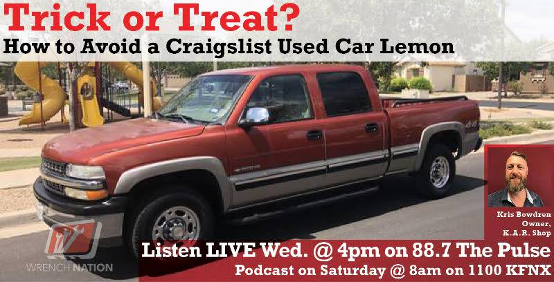 #124 Trick or Treat? How to Avoid a Craigslist Used Car Lemon