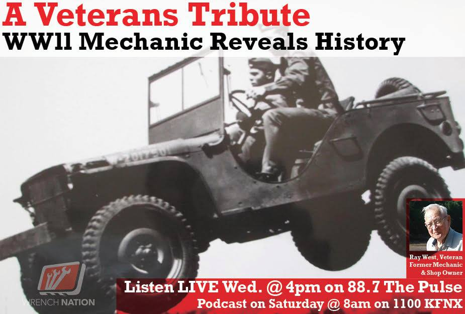 #129 WWII Mechanic Stops By the Studio-Veterans Day Tribute