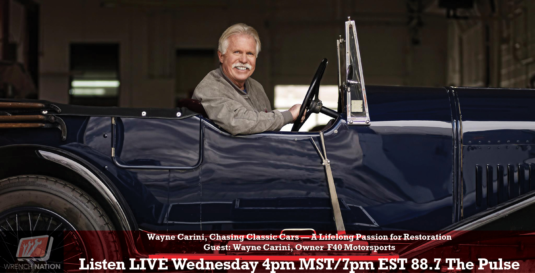 Wayne Carini – Chasing Classic Cars, from Barn Yard Find to Restoration Gem