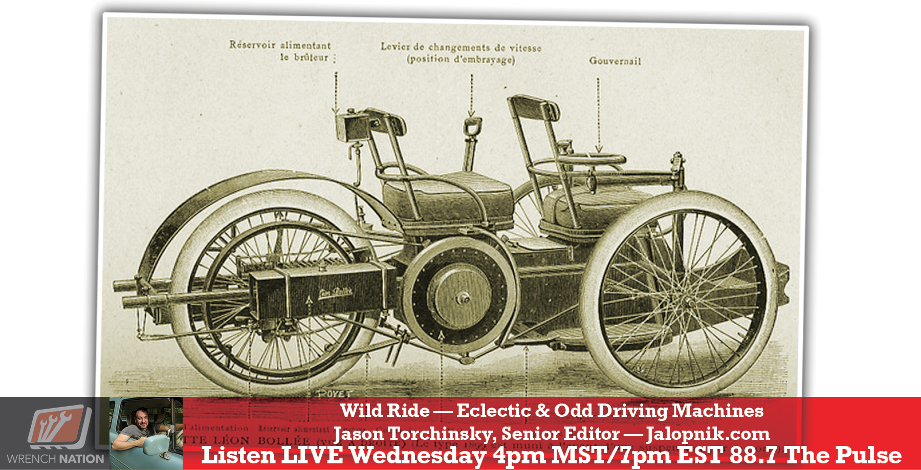 #176 Odd & Eclectic Vehicles with Jason Torchinsky
