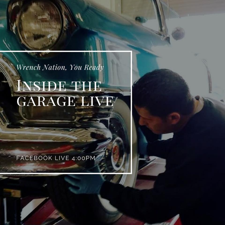 """Facebook Live """"Inside The Garage"""" 8/27/18"""